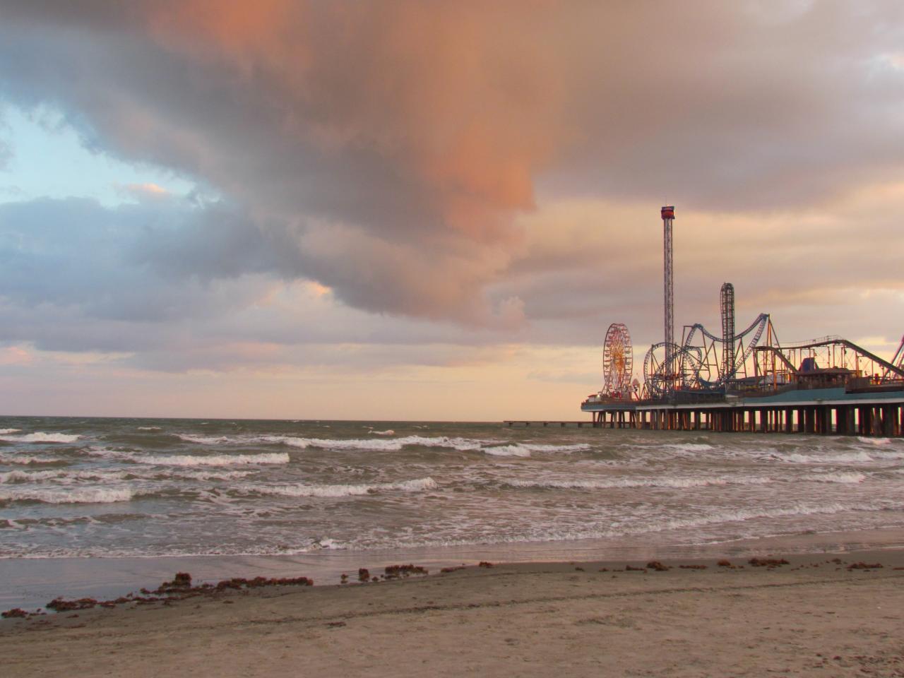 GALVESTON sur les rives du Golfe du Mexique à 30 km de HOUSTON